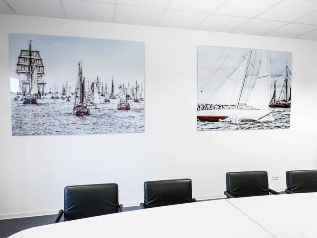 Koferenzraum im Druckzentrum Neumünster